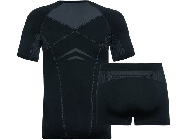Odlo Performance Evolution Light Underwear Set Men, black/graphite grey